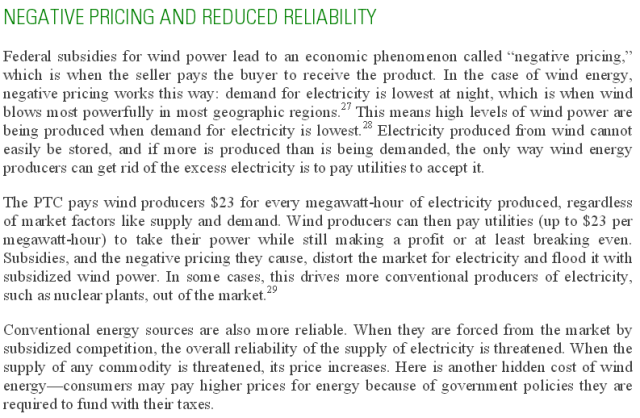 Bad Energy Drives Out Good http://www.strata.org/wp-content/uploads/2015/07/Full-Report-True-Cost-of-Wind1.pdf