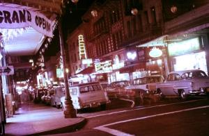 1956 chinatown at night