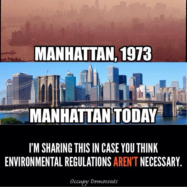 Nyc then and now how much impact did government pollution for Things to do today in manhattan