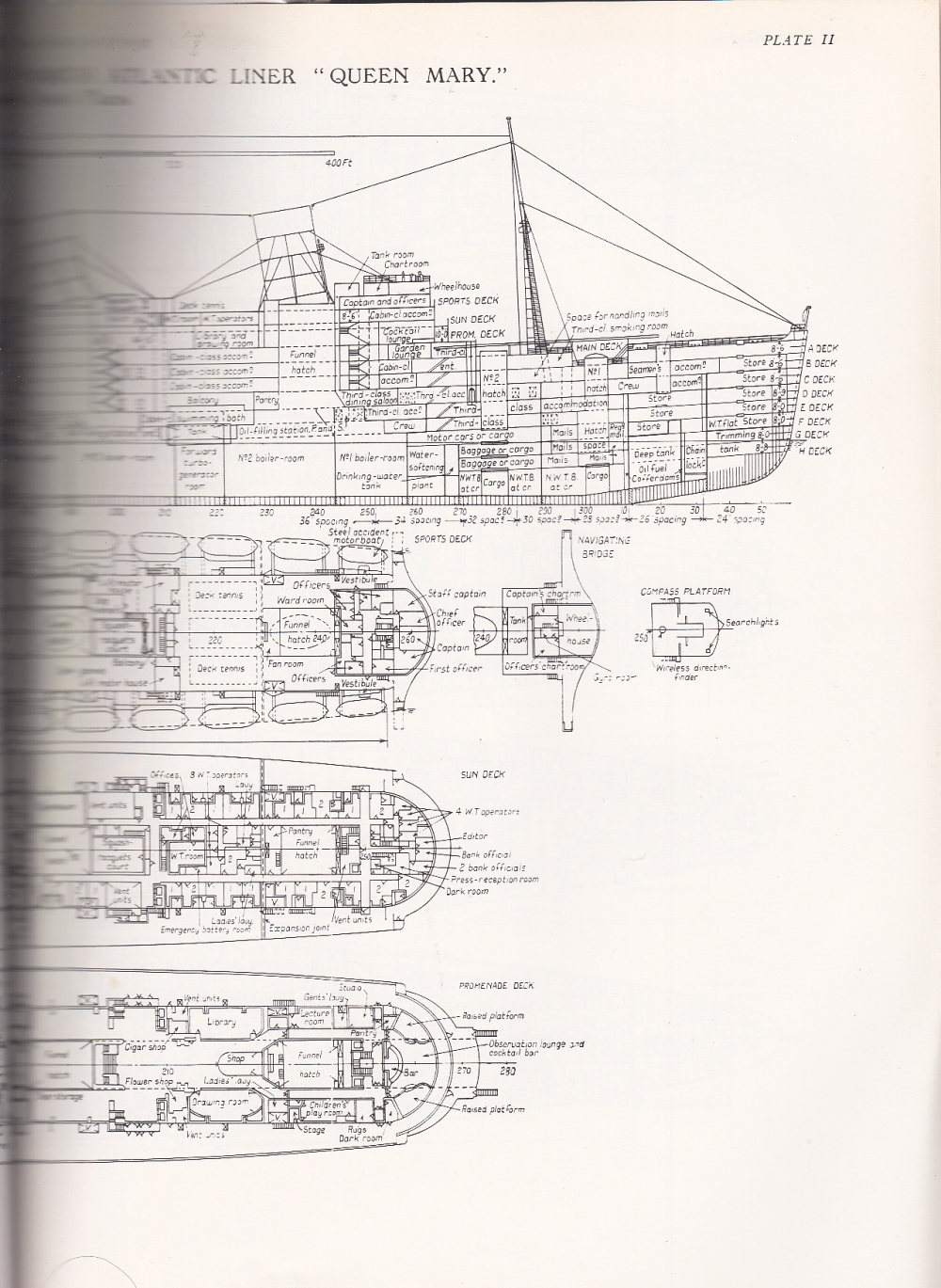 The rms queen mary the arts mechanical partial deck plans qm3 qm2 baanklon Gallery